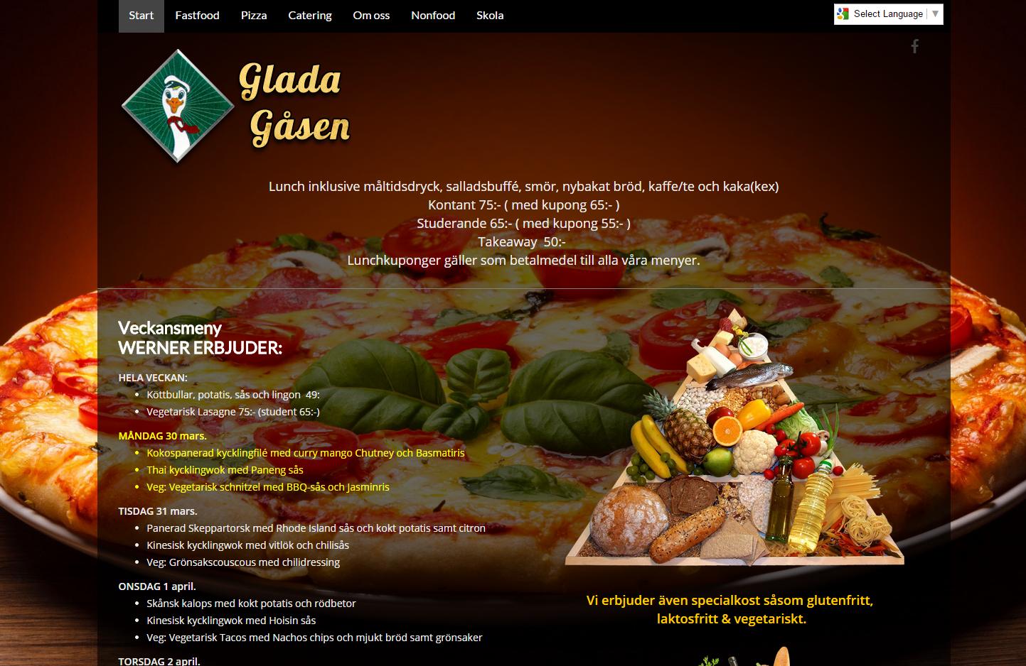 Gladagasen website