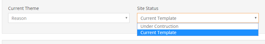 New Feature Released Site Status