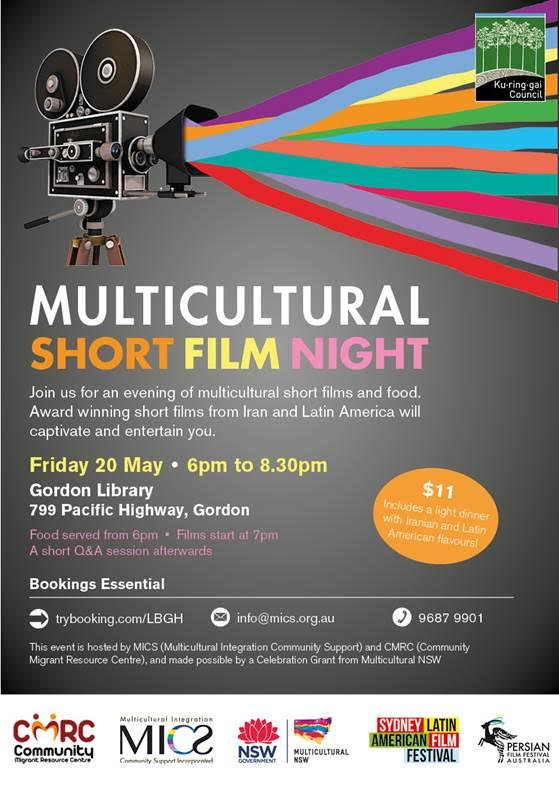 Join us for an evening of multicultural shor film and food.